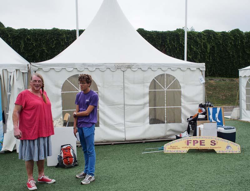 Här är vårt tält