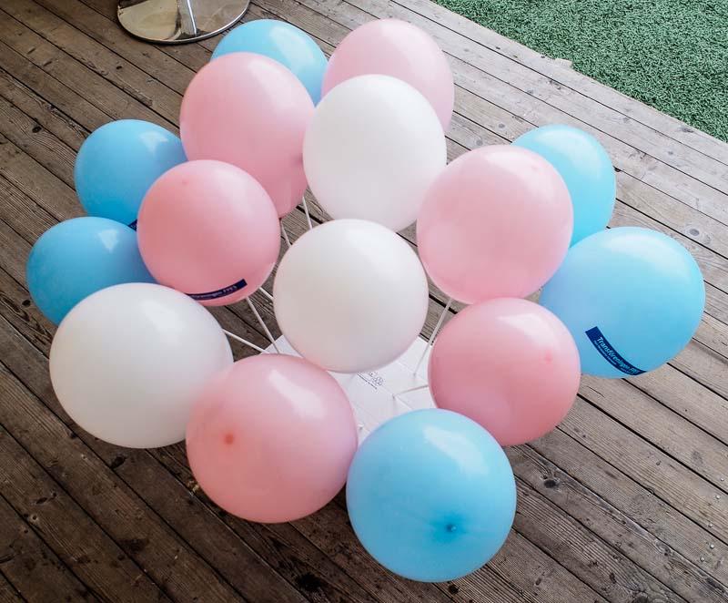 Ballonger i de rätta färgerna