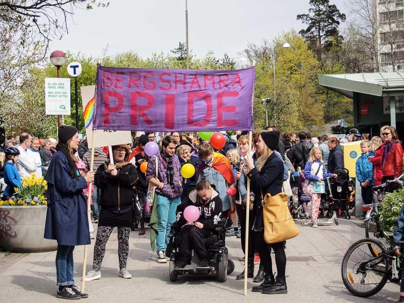 Från förra årets Bergshamra Pride