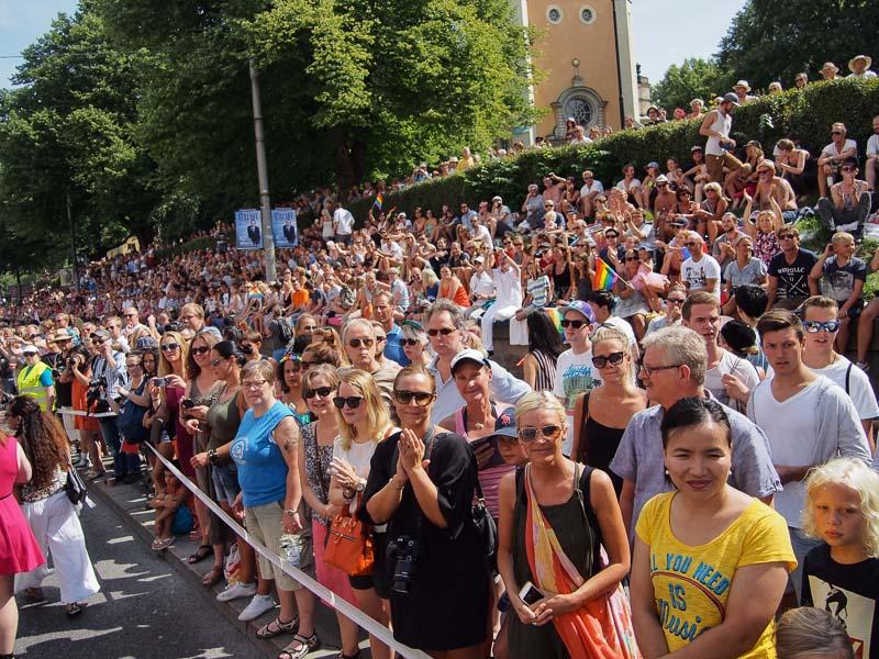 Mycket åskådare på Hornsgatan